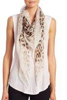 Alexander McQueen Eaten Way Leopard Silk Scarf