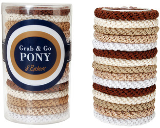 L. Erickson Grab & Go Pony Elastics Tube, Set of 15