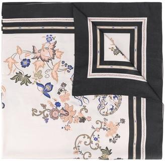Etro Contrast Edge Floral Print Scarf