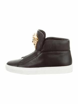 Versace Palazzo High-Top Sneakers Black