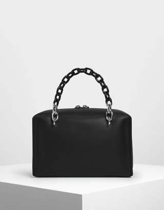 Charles & KeithCharles & Keith Double Chain Handle Bag