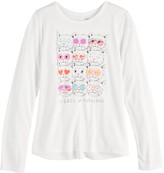 Mudd Girls 7-16 Long Sleeve Graphic Tee