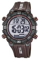 Calypso Men's Digital Watch with LCD Dial Digital Display and Brown Plastic Strap K5701/5