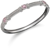 Judith Ripka 3 Cushion Stone Bangle in Pink Crystal