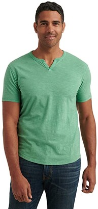 Lucky Brand Slub Notch Tee (Mineral Red) Men's Clothing