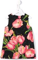 Dolce & Gabbana tulip print brocade dress