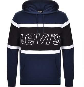 Levi's Levis Colour Block Logo Hoodie Navy
