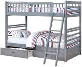 True Contemporary Twin over Twin Bunk Bed with Storage Drawers