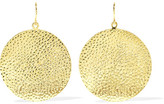 Jennifer Meyer Hammered 18-karat Gold Earrings - one size