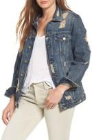 DL1961 Women's Dahlia Ripped Denim Jacket