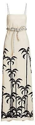 Johanna Ortiz Women's Palm Tree Linen Maxi Dress