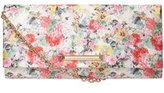 Dorothy Perkins Womens Lemon Floral Small Clutch- Yellow