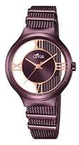 Lotus Women's Quartz Watch with Purple Dial Analogue Display and Purple Stainless Steel Plated Bracelet 18335/1