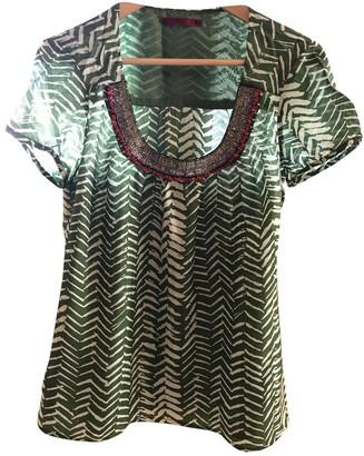 Velvet Green Silk Top for Women