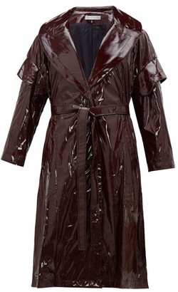 Palmer Harding Palmer//Harding Palmer//harding - Single-breasted Pvc Coat - Womens - Burgundy
