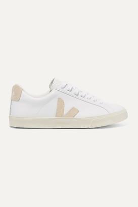 Veja Esplar Suede-trimmed Leather Sneakers - White