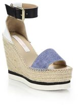 See by Chloe Glyn Chambray Espadrille Wedge Platform Sandals