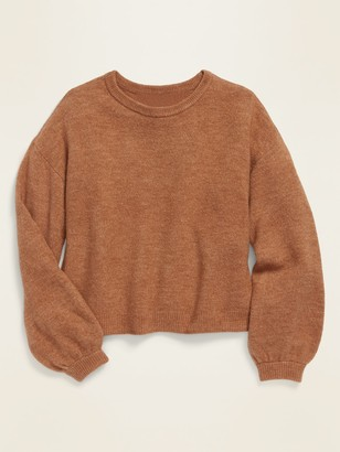 Old Navy Balloon-Sleeve Crew-Neck Sweater for Girls