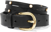 Isabel Marant Studded woven leather belt