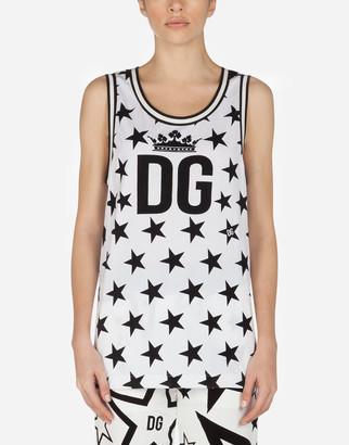 Dolce & Gabbana Millennials Star Print Jersey Tank Top