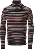 Paolo Pecora striped roll-neck sweater