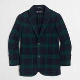 J.Crew Factory Boys' tartan unconstructed blazer