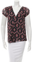 Isabel Marant Printed Cap Sleeve Top
