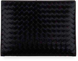 Bottega Veneta Men's Woven Leather Document Case