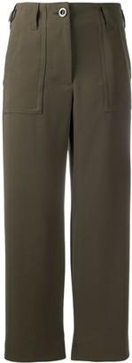 Sacai High-Waisted Cropped Trousers