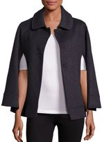 Saks Fifth Avenue Collection Wool Spread Collar Cape