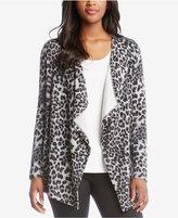 Karen Kane Leopard-Print Open-Front Cardigan