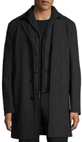 Brooks Brothers Wool Birdseye Top Coat with Warmer