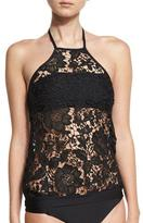 Luxe by Lisa Vogel State of Lace High-Neck Tankini & Bandeau Swim Top