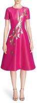Pamella Roland Women's Embellished Silk Faille Fit & Flare Dress