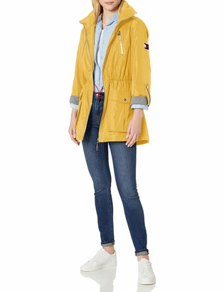 Tommy Hilfiger Women's Roll tab Anorak with Jersey Lining