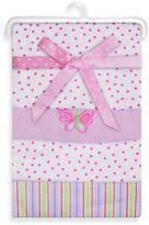 SpaSilk Butterfly 4-Pack Flannel Receiving Blanket