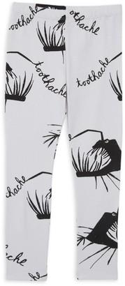 Little Man Happy Little Girl's & Girl's Graphic Cotton Leggings