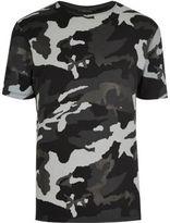 River Island MensBlack metallic camo T-shirt