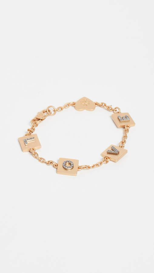Tory Burch Love Message Delicate Bracelet