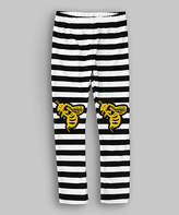 Urban Smalls Black & White Stripe Bees Knees Leggings - Toddler & Kids