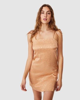 Cotton On Women's Brown Mini Dresses - Woven Kerr Strappy Mini Dress - Size XS at The Iconic