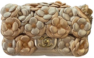 Chanel Timeless/Classique Gold Leather Handbags