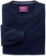 Charles Tyrwhitt Navy Cashmere Crew Neck Sweater Size XXL