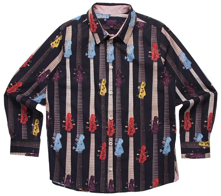 Paul Smith Boogie Shirt (Big Kids) (Royal Blue) - Apparel
