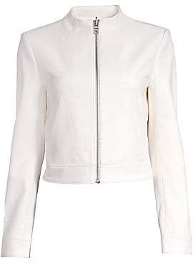 Alice + Olivia Women's Yardley Mockneck Leather Jacket