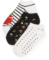 Kate Spade Cherry 3 Pack Sock Set