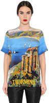 Dolce & Gabbana Taormina Printed Silk Crepe De Chine Top