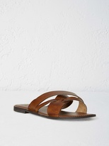 White Stuff Mens leather x vamp sandal