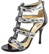 Moschino Taglia Women Open Toe Patent Leather Sandals.