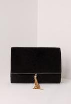 Missguided Mini Tassel Clutch Black